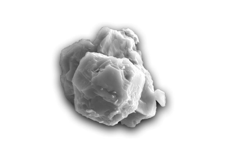 Foto mostra elétron de um grão de carboneto de silício pré-solar