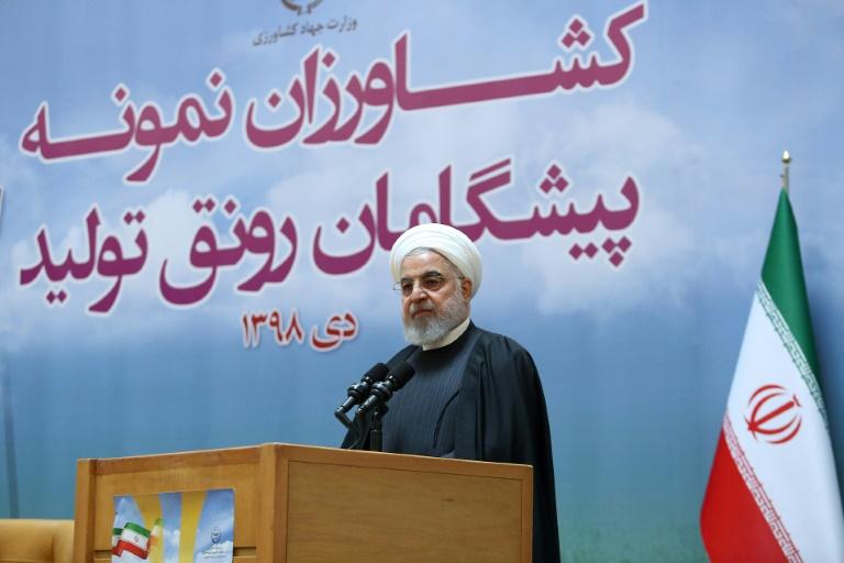 Presidente iraniano, Hassan Rohani, em 14 de janeiro de 2020