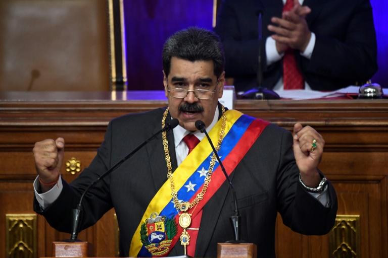 Presidente da Venezuela, Nicolás Maduro, em 14 de janeiro de 2020