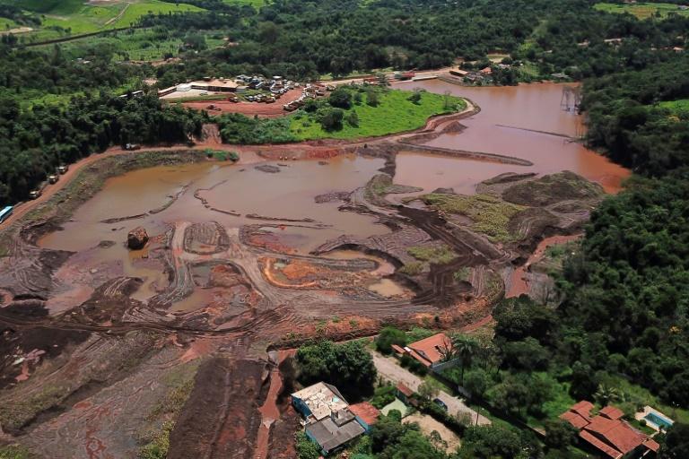 Vista aérea do desastre de Brumadinho, Minas Gerais, Brasil, el 25 de janeiro de 2019