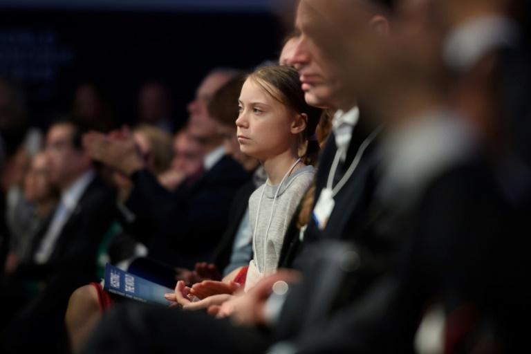 A ativista sueca Greta Thunberg participa do Fórum Econômico Mundial, em Davos