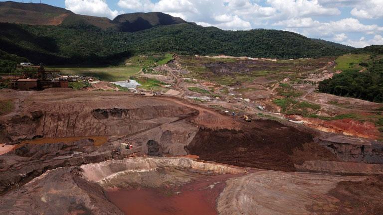 Vista aérea da Mina do Córrego do Feijão, da mieradora Vale, onde o colapso de uma barragem de rejeitos de mineração em 25 de janeiro de 2019 deixou 270 mortos