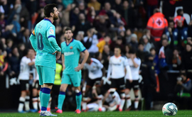 Valencia sent Barcelona tumbling to their fourth league loss of the season (AFP)