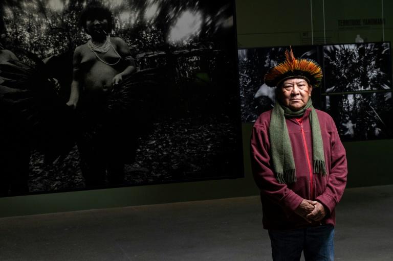 Líder yanomami Davi Kopenawa, em 29 de janeiro de 2020, em Paris