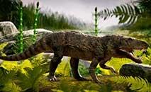 Réptil se alimentava de animais mortos e possuía couraça óssea no dorso (Márcio L. Castro/UFSM)