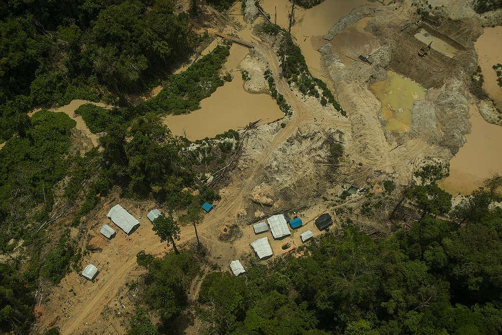 Destruição causada por garimpos ilegais na Terra Indígena Munduruku, no Pará