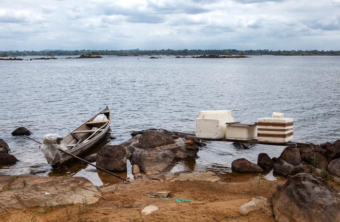 Na comunidade Vila da Ressaca a redução da vazão provocada pela barragem