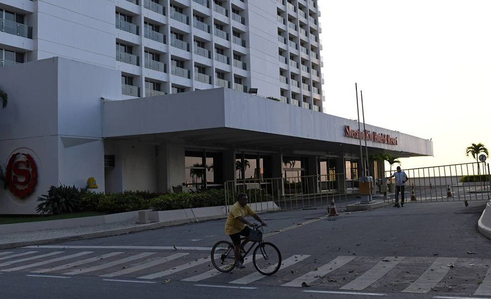 O hotel Sheraton Rio, um dos maiores da Zona Sul, está temporariamente fechado devido à falta de hóspede