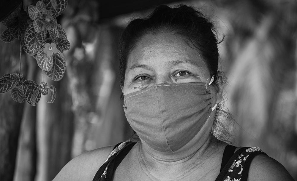 Sandra Amorim é presidente da Associação de Moradores da Comunidade Quilombola Sítio São João
