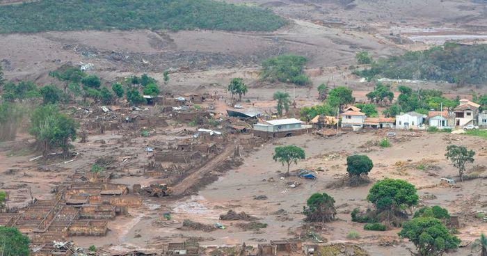 Bento Rodrigues, distrito de Mariana, foi totalmente arrasado pela lama de minério da Samarco
