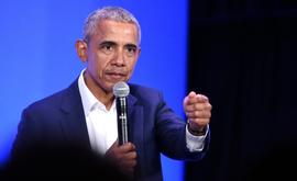Barack Obama, em 19 de fevereiro de 2019, em Oakland, Califórnia (Josh Edelson/AFP)