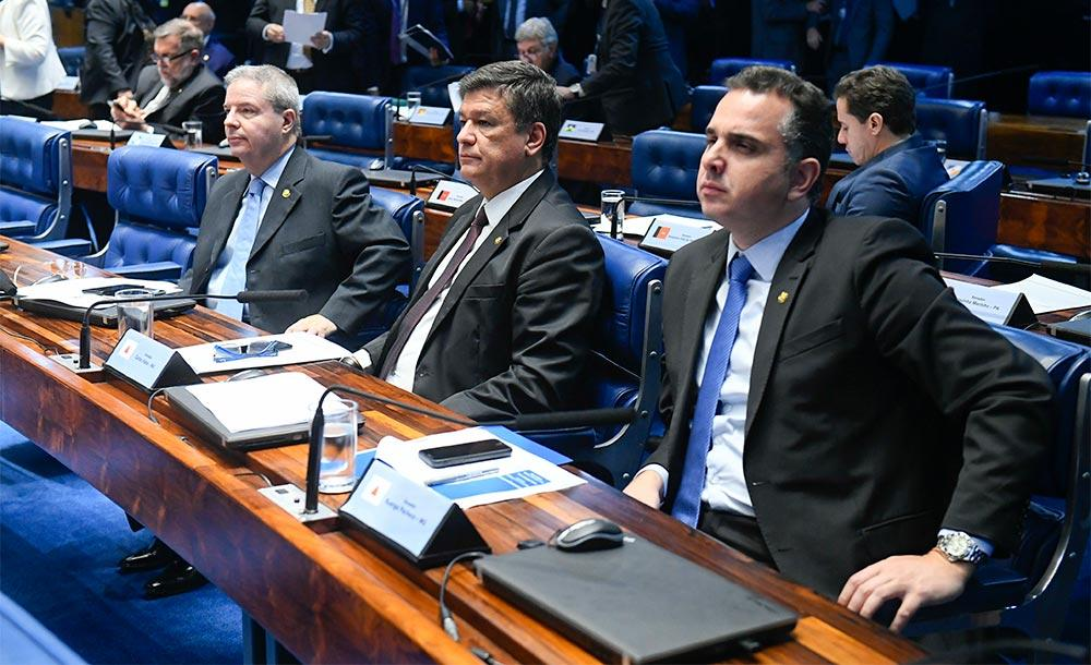 Bancada mineira: Antonio Anastasia (PSD-MG), Carlos Viana (PSD-MG) e Rodrigo Pacheco (DEM-MG).
