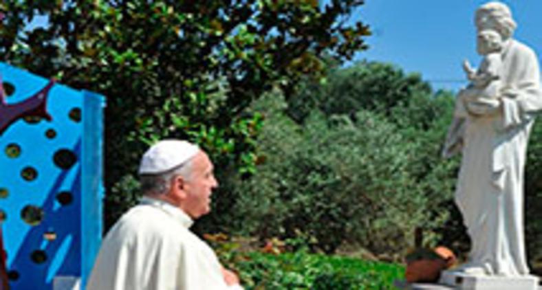 Francisco é devoto de São José há muito tempo. O 'Ano de São José' vai encontro dos desafios impostos pela pandemia (Vatican Media)