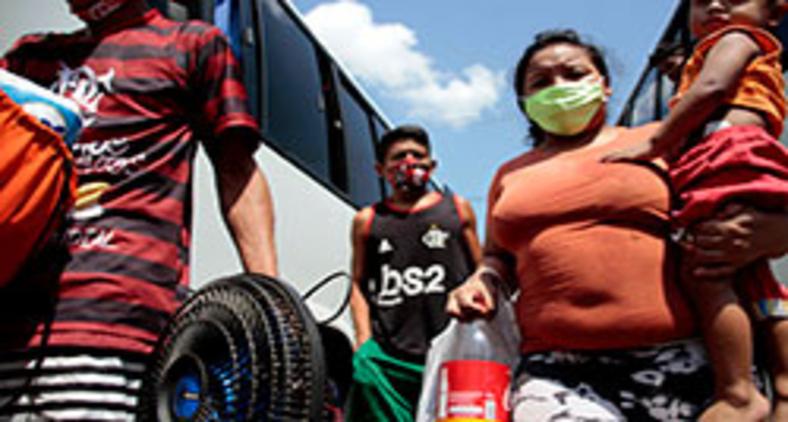 Mudança de venezuelanos para novo endereço em Manaus no dia 3 de setembro (Prefeitura de Manaus)