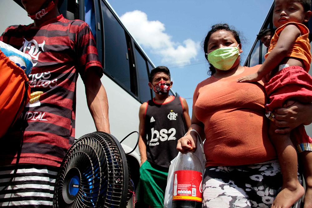 Mudança de venezuelanos para novo endereço em Manaus no dia 3 de setembro