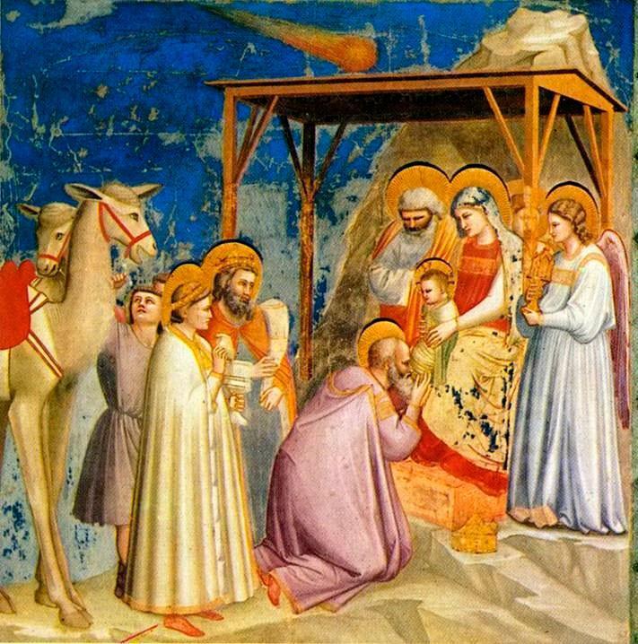 'A adoração dos magos' de Giotto