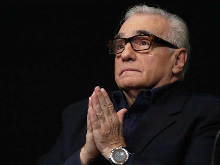 Scorsese durante uma conferência de imprensa em outubro de 2015
