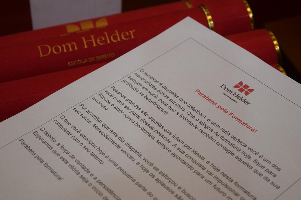 Mensagem entregue aos formandos da Dom Helder Escola de Direito