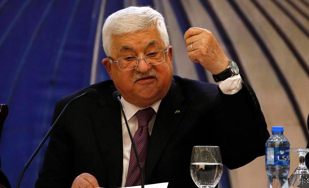 O presidente da Autoridade Nacional Palestina declarou que o plano inviabiliza o Estado palestino
