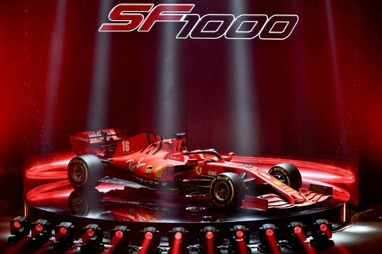 O novo SF1000, que a Ferrari espera que traga o primeiro título mundial de pilotos desde 2007