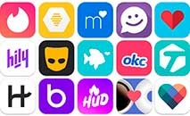 Cerca de 30% dos adultos americanos usaram um aplicativo ou site de namoro, o que aumenta para 50% para menores de 30 (Wikkicommons)