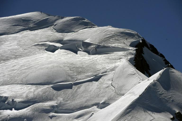 Vista do Mont Blanc, a partir da cidade francesa de Chamonix