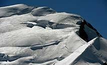 Vista do Mont Blanc, a partir da cidade francesa de Chamonix (Arquivo/AFP)