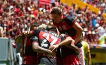Flamengo não teve dificuldade para bater o Furacão (Alexandre Vidal / Flamengo)
