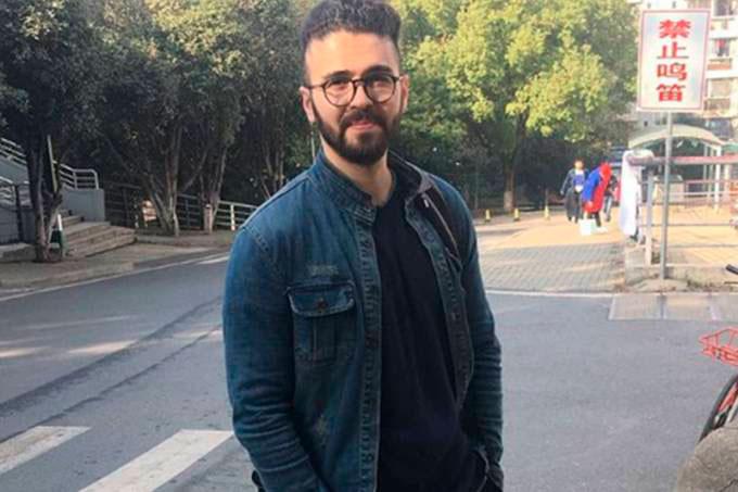 Caleb Guerra, em Wuhan: brasileiro fez relato do período de quarentena devido ao risco de coronavírus