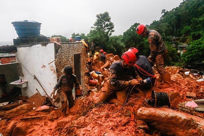 Região Sudeste foi duramente castigada pelas fortes chuvas nos últimos dias