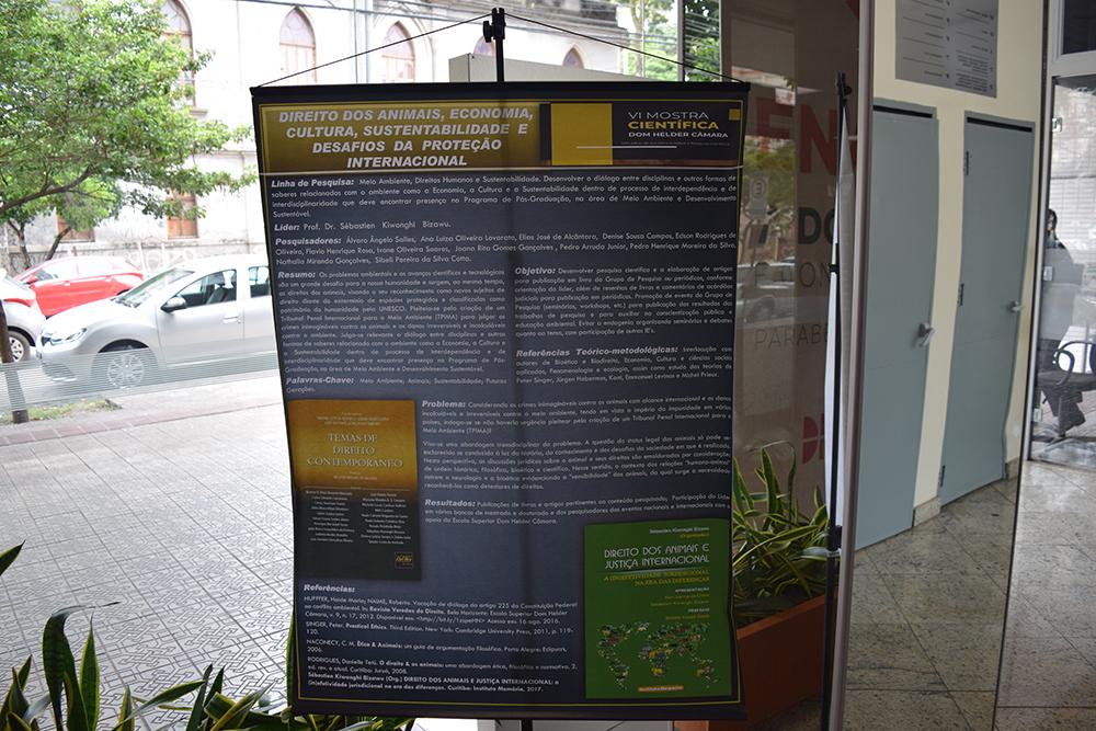Banners das pesquisas foram exibidos no evento