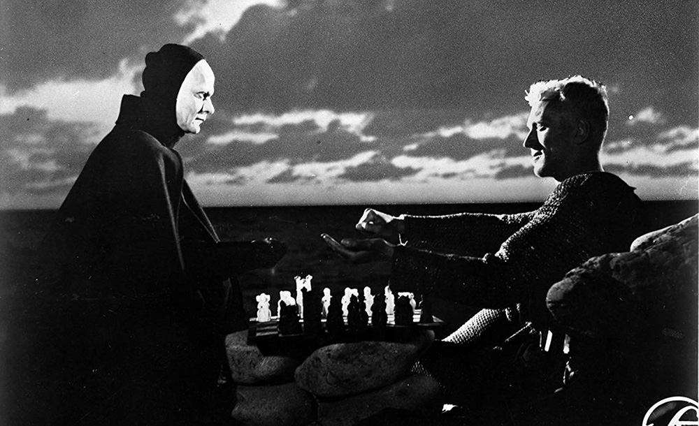 A cena antológica de 'O sétimo selo', de 1957, em que Von Sydow interpreta um cavaleiro que joga xadrez com a morte