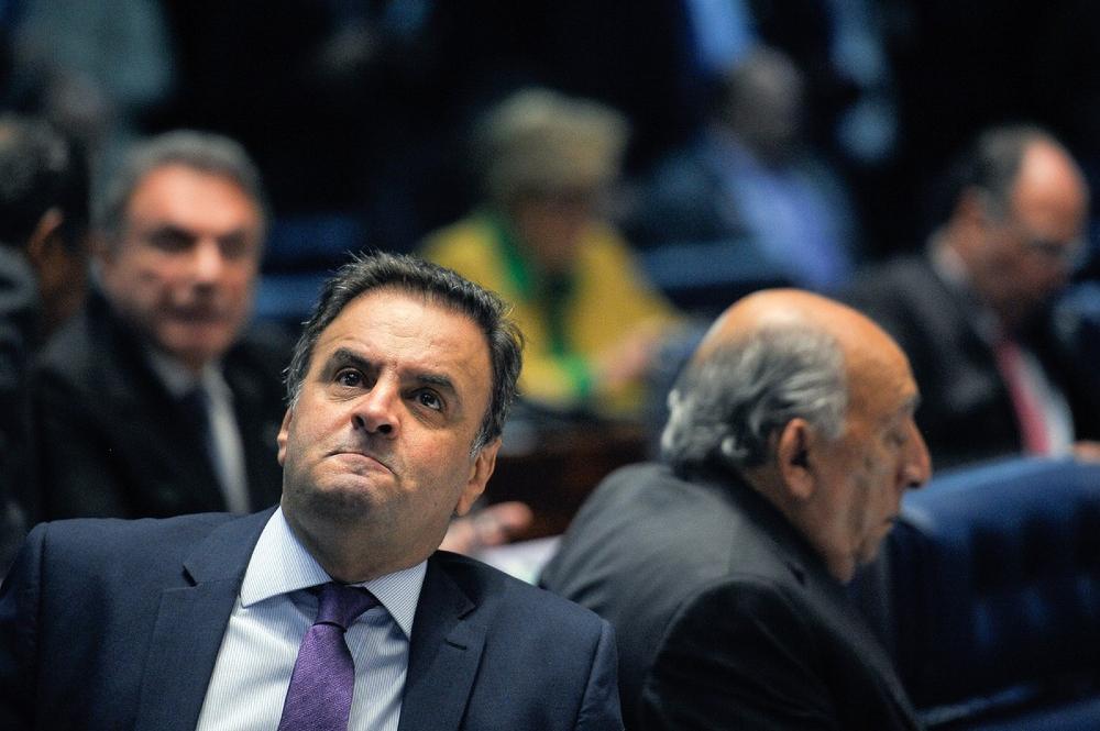 O deputado federal Aécio Neves (PSDB-MG) quando ainda era senador da República