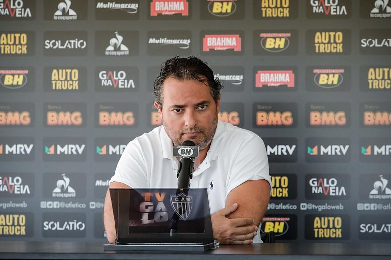 Alexandre Mattos chegou ao Atlético em meio à pandemia