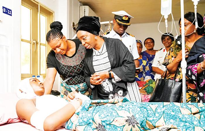 Uma das vítimas da explosão na Nigéria