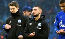 Jogadores do Schalke 04 após uma partida contra o Hoffenheim, 7 de março de 2020 (AFP/Arquivos)