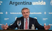 Fernández lamentou que Bolsonaro não entenda a dimensão do problema (Presidencia de Argentina/AFP/Arquivos)