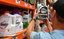 Cliente compra o herbicida Roundup em 10 de julho de 2018 em mercado de San Rafael, Califórnia (AFP/Arquivos)