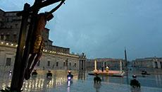Pontífice afirmou que é 'diante do sofrimento que se mede o verdadeiro desenvolvimento dos povos' (Vatican Media)