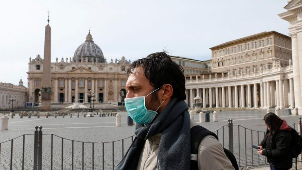 Após decreto do governo italiano para contenção do coronavirus, Vaticano foi fechado por medidas de segurança.