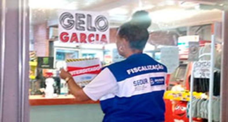 Força-tarefa da prefeitura interdita 28 estabelecimentos no último fim de semana de março em Salvador (SECOM/Salvador)