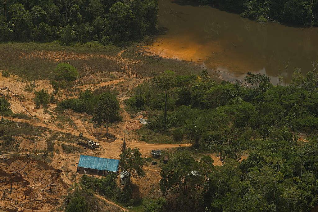 Garimpo ilegal dentro da Terra Indígena Munduruku, no Pará, em setembro de 2019