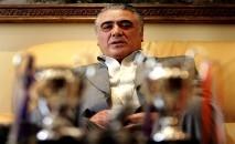 (Arquivo) O ex-presidente do Real Madrid Lorenzo Sanz, que morreu de Covid-19 (AFP/Arquivos)