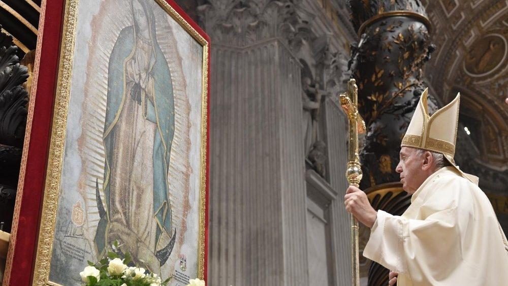 Imagem de Nossa Senhora de Guadalupe, Padroeira da América.
