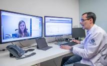 Telemedicina vem ganhando novas iniciativas no SUS por causa do surto de coronavírus (Fabio H Mendes/E6 Imagens/Hospital Albert Einstein)