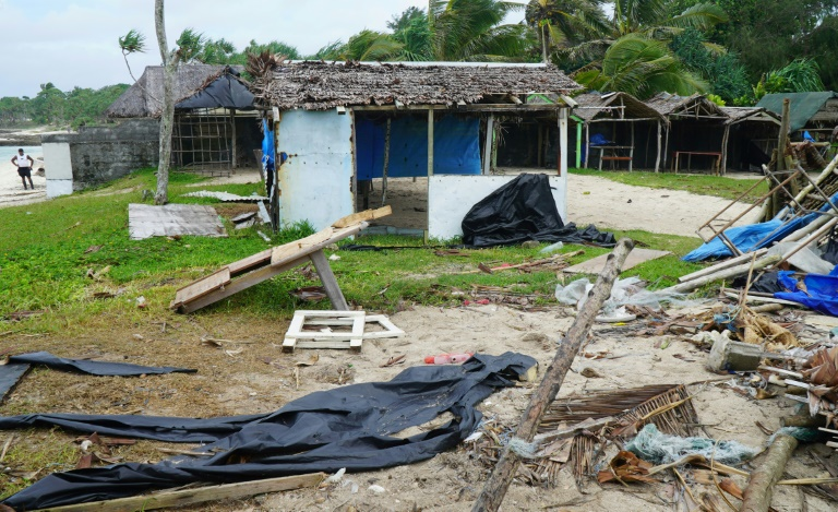 Destroços causados pelo ciclone Harold em Port-Vila (Vanuatu), em  7 de abril de 2020