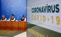 Coletiva de Imprensa com representantes dos Ministério da Saúde no dia 08/04 (Anderson Riedel/PR)