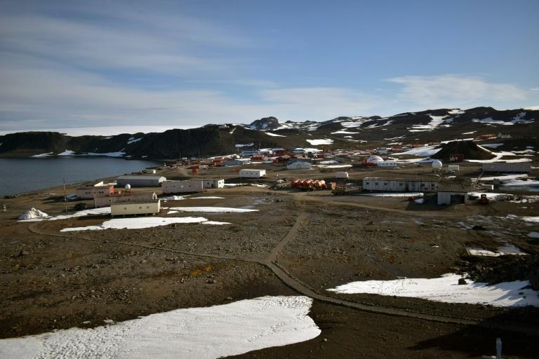 Foto publicada pela Academia da Força Aérea do Chile, da base Eduardo Frei, na Antártica