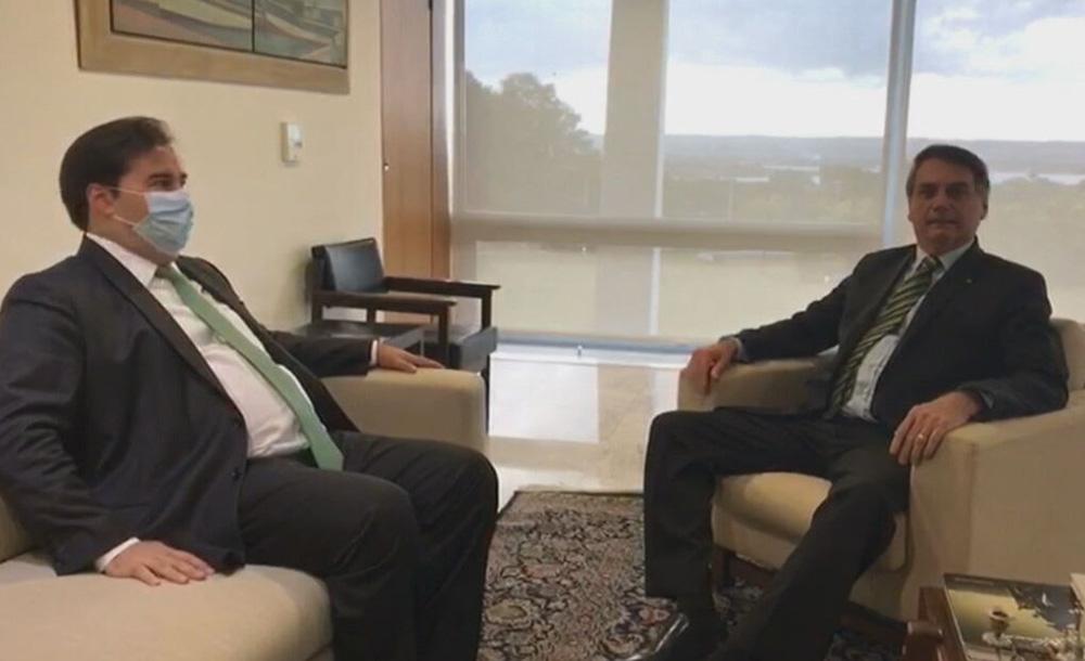 Maia e Bolsonaro se encontraram na tarde desta quinta-feira (14), no Palácio do Planalto