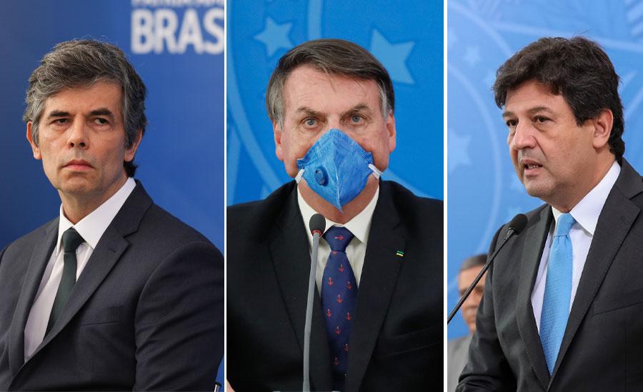 Ex-ministros Teich e Mandetta divergiam de Bolsonaro sobre combate à covid-19